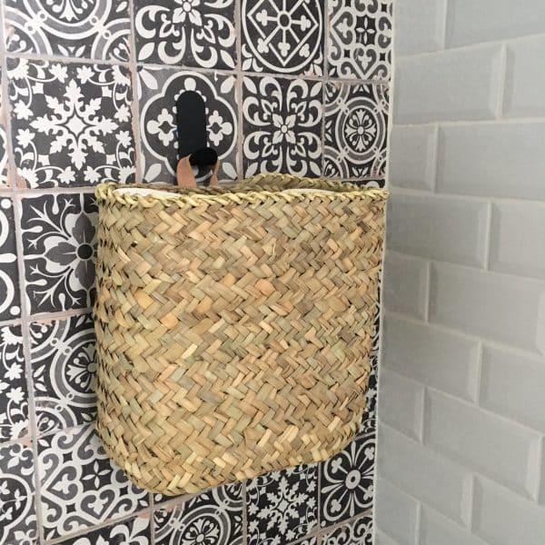 Panier rectangle panier à suspendre panier en feuilles de palmier