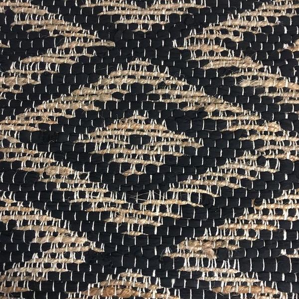 Tapis jute et coton noir tapis style boho tapis tapis en jute tapis 70X200 tapis 140x180cm tapis en jute et coton noir