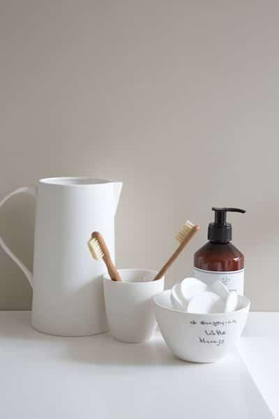 Bol Historias bowl blanc en grès UNC artisanat Simonne Chic