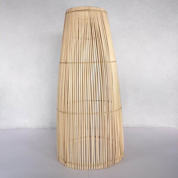 Abat jour en rotin naturel fabrication artisanale Simonne Chic