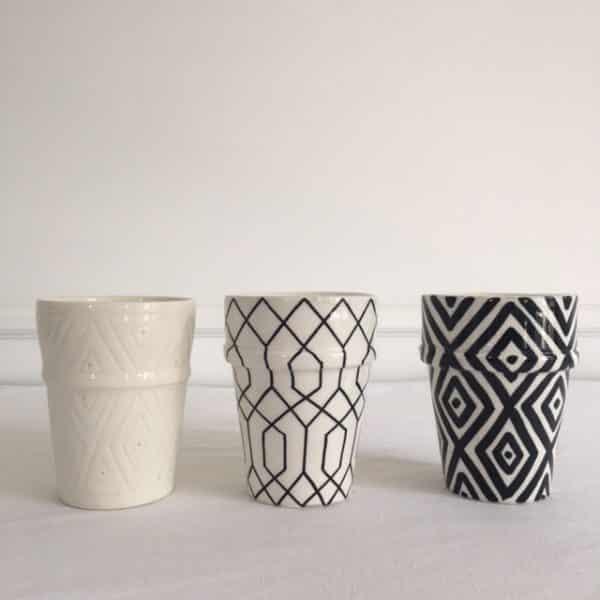 Bougies Ambre Oriental ou musc verre beldi en céramique Simonne Chic