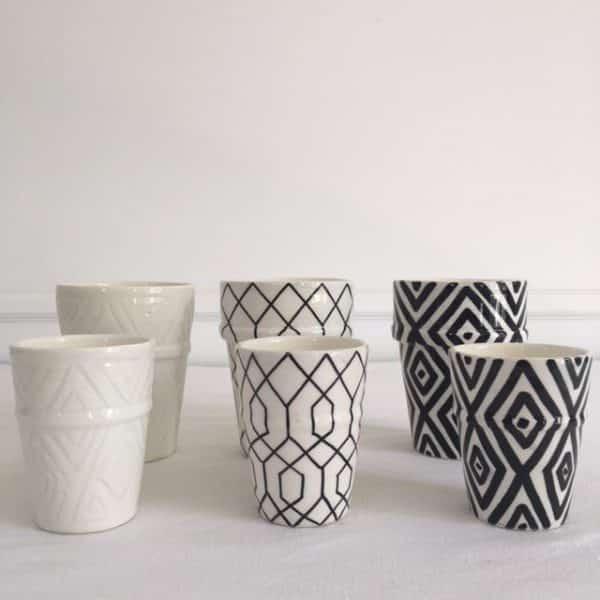 Bougies verre en céramique fabrication artisanale Simonne Chic