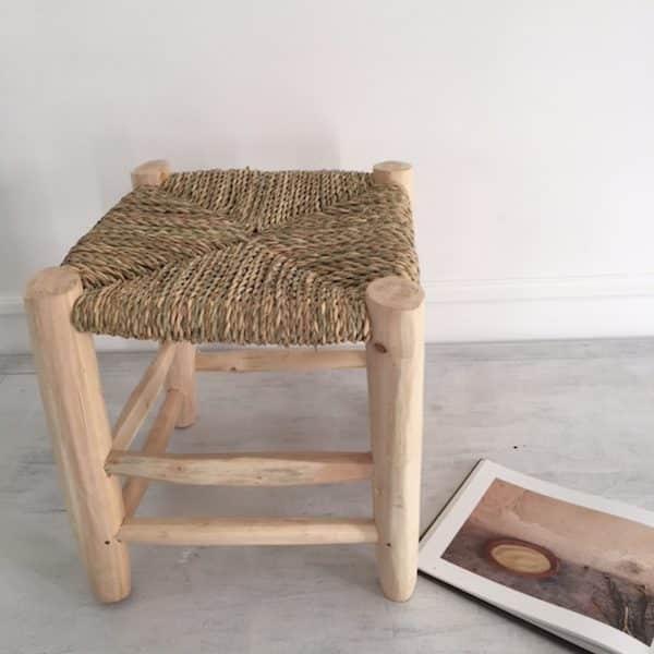 Tabouret beldi fabrication artisanal au Maroc PM Simonne Chic