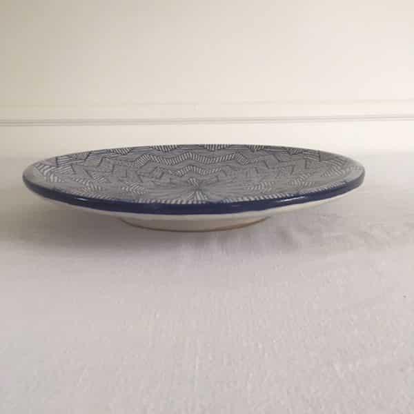 Vaisselle en Poterie de Fès bleu hand made Simonne Chic