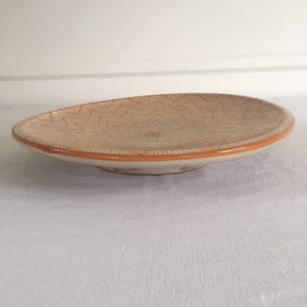 Vaisselle en poterie de Fès jaune safran hand made Simonne Chic