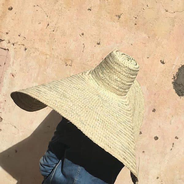 Chapeau de paille géant accessoire fashion été 2019 fabrication artisanale