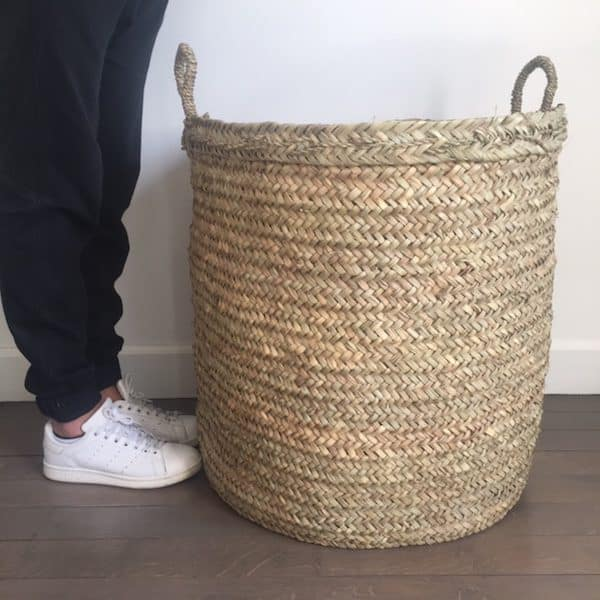 Panier Beldi du Maroc fabrication artisanale en doum taille XXL