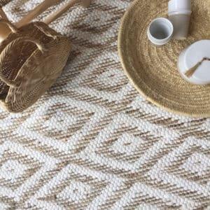 Tapis en jute et coton naturel style bohème chic tendance actuelle