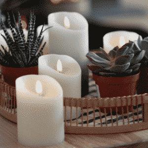 Bougies cire led flamme réaliste La Maison de Lilo