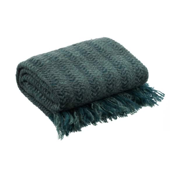 Plaid tricot Cobalt lichen taupe La Maison de Lilo séléction Simonne Chic