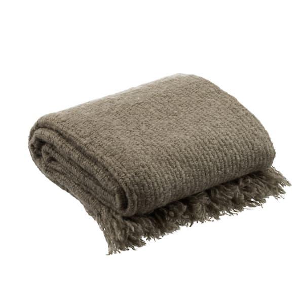 Plaid tricot Taupe La Maison de Lilo séléction Simonne Chic